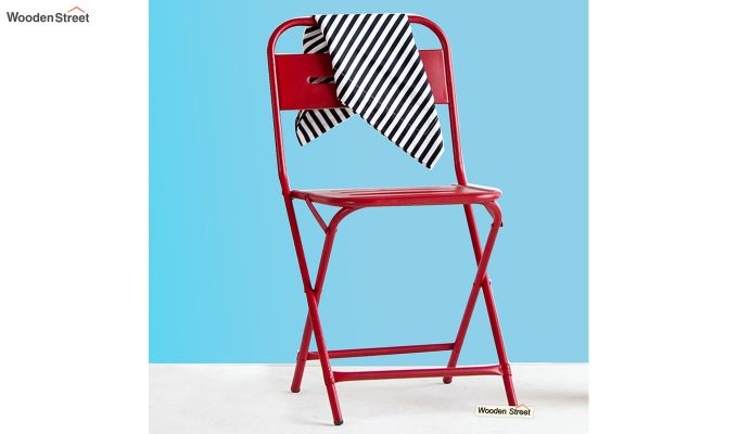 Argent Iron Folding Chair (Red)-1
