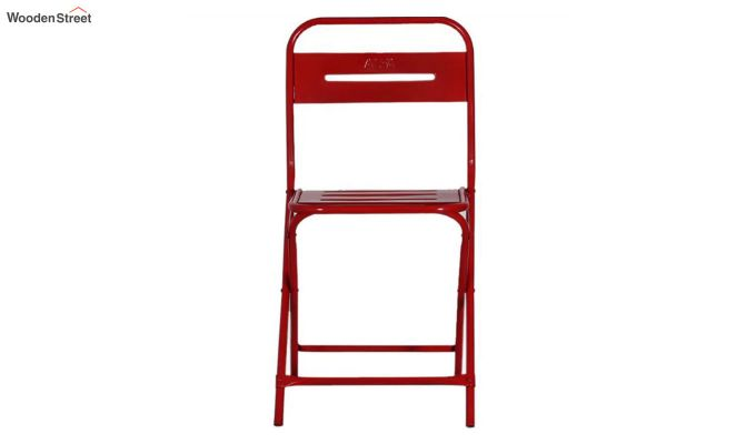 Argent Iron Folding Chair (Red)-4