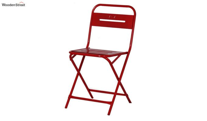 Argent Iron Folding Chair (Red)-6