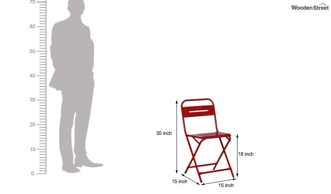 Argent Iron Folding Chair (Red)-7