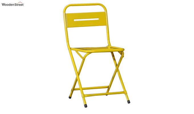Argent Iron Folding Chair (Yellow)-2