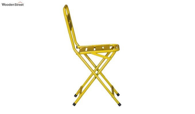 Argent Iron Folding Chair (Yellow)-4