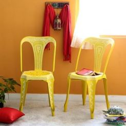 Bairstow Iron Chair (Yellow)