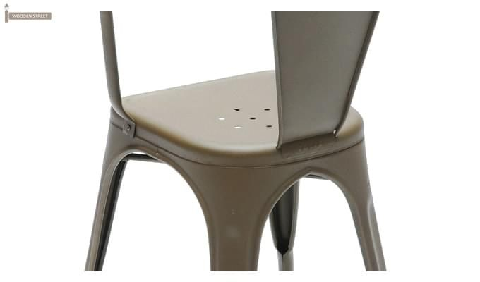 Camion Grey Arm Iron Chair Set of -2 (Grey)-4