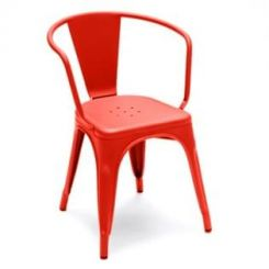 Camion Orange Metal Chair (Red)