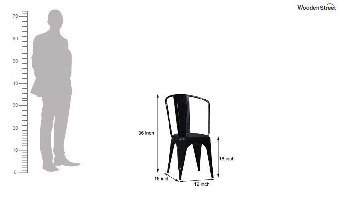 Costa Metal Chair (Black)-6