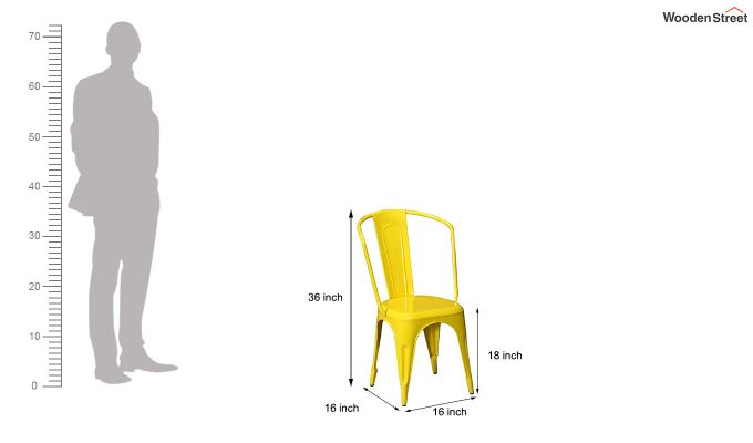 Costa Metal Chair (Yellow)-5