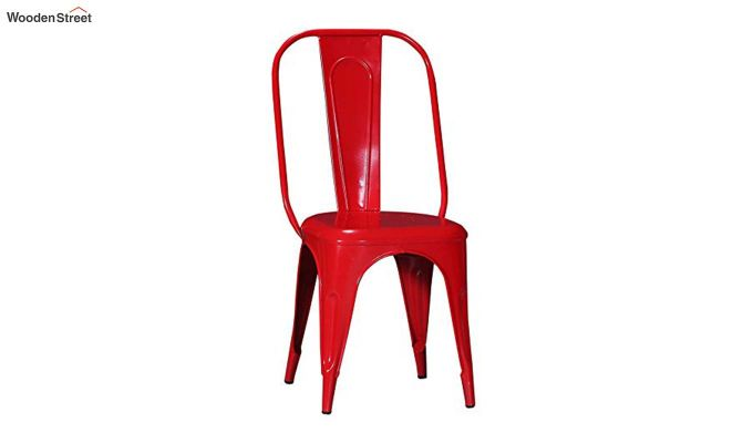 Elsby Iron Chair Set of -2 (Red)-1