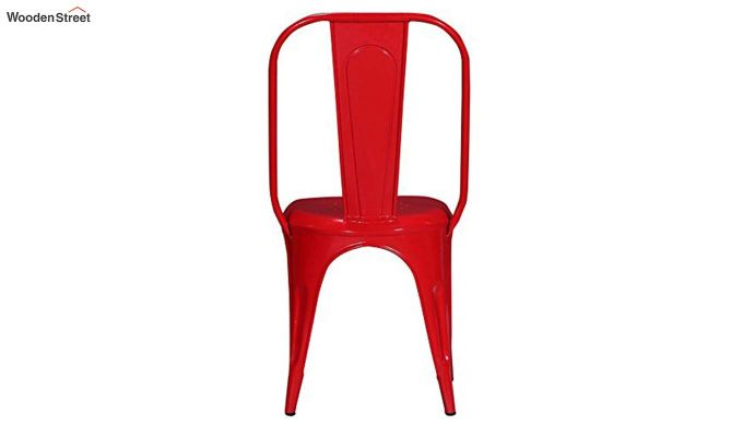 Elsby Iron Chair Set of -2 (Red)-3