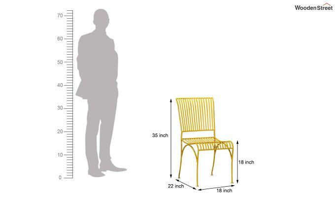 Euan Metal Chair (Yellow)-6