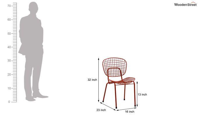 Gregor Metal Chair (Orange)-6