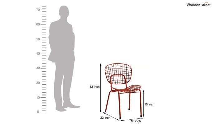 Gregor Metal Chair (Red)-7