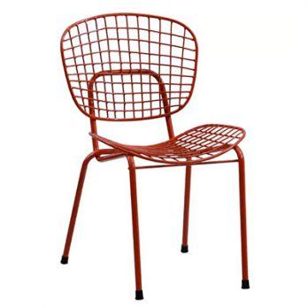 outdoor metal chair. Gregor Metal Chair (Red) Outdoor