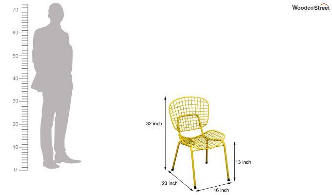 Gregor Metal Chair (Yellow)-6
