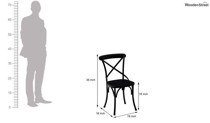 Stella Iron Chair (Black)-5