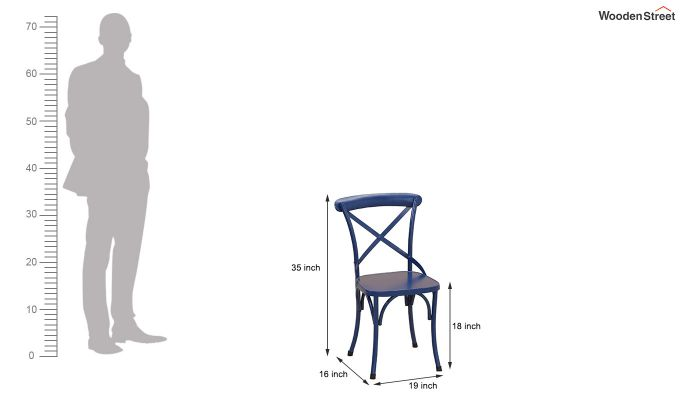 Stella Iron Chair (Blue)-6