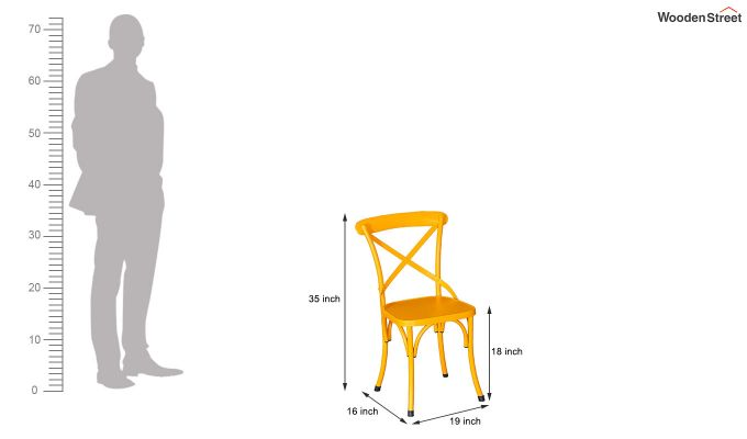 Stella Iron Chair (Yellow)-6