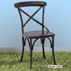 Stella Iron Chair (Coffee Brown)
