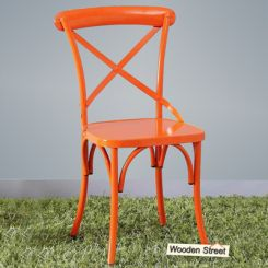 Stella Iron Chair (Orange)
