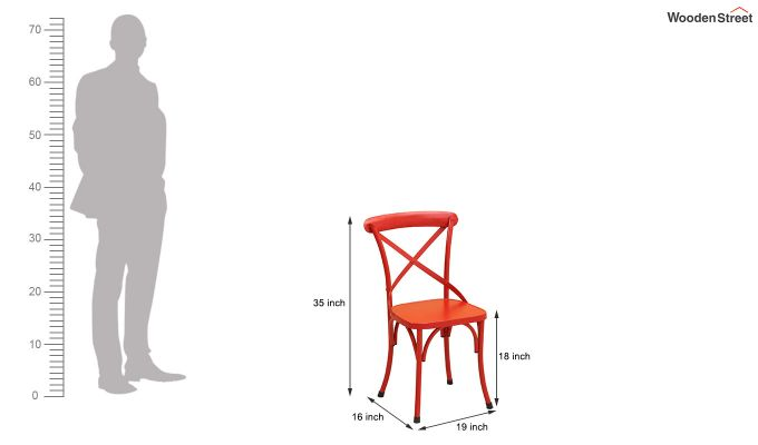 Stella Iron Chair (Red)-6