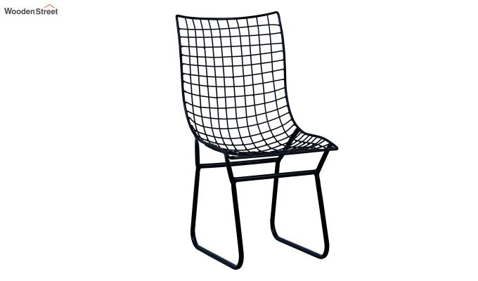 Todd Wire Mesh Metal Chair (Black)-2