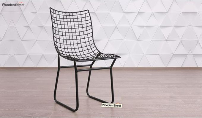 Todd Wire Mesh Metal Chair (Black)-1