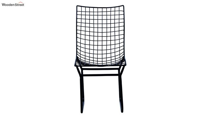 Todd Wire Mesh Metal Chair (Black)-3