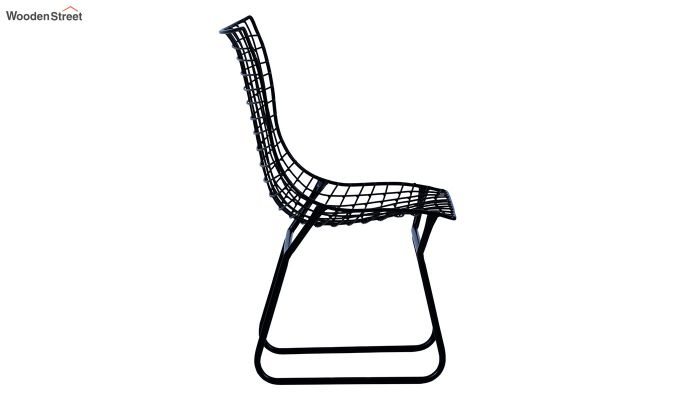 Todd Wire Mesh Metal Chair (Black)-4