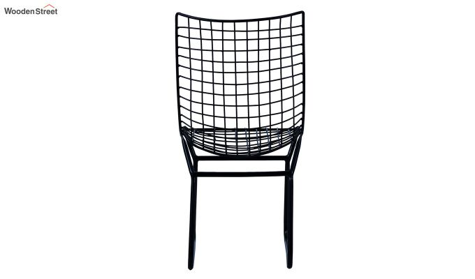 Todd Wire Mesh Metal Chair (Black)-5