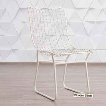 Todd Wire Mesh Metal Chair (White)