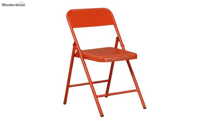 Zoe Metal Chair (Orange)-2