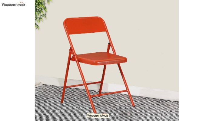 Zoe Metal Chair (Orange)-1