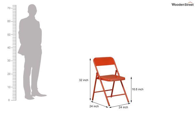 Zoe Metal Chair (Orange)-8