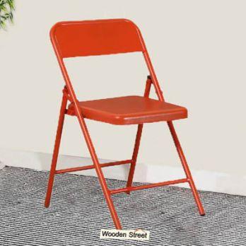 colourful metal folding chair