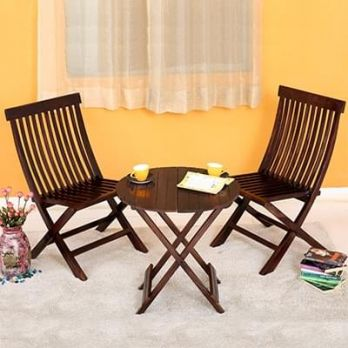 wooden furniture set for balcony online