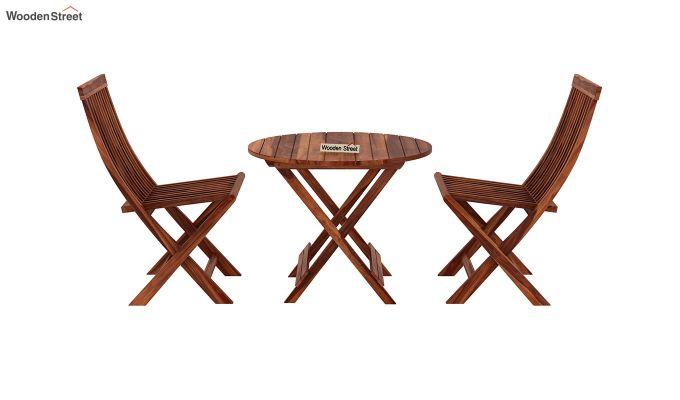 Hanton Folding Chair And Round Table (Honey Finish)-3