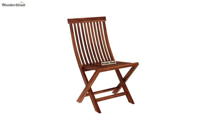 Hanton Folding Chair And Round Table (Honey Finish)-6