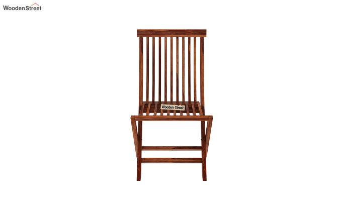 Hanton Folding Chair And Round Table (Honey Finish)-7