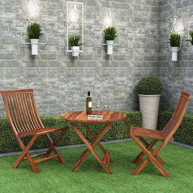 wooden furniture set for balcony online