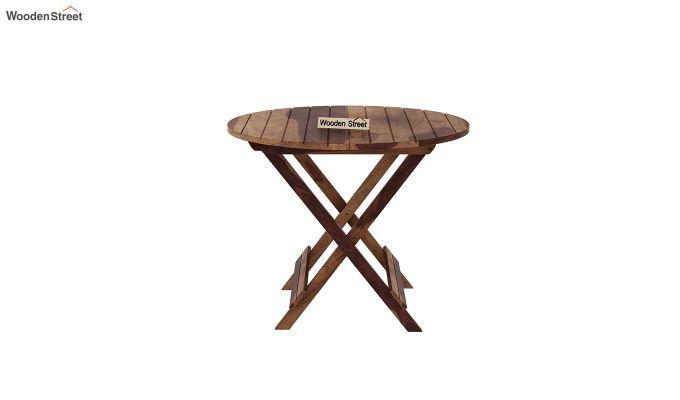 Hanton Folding Chair And Round Table (Teak Finish)-5