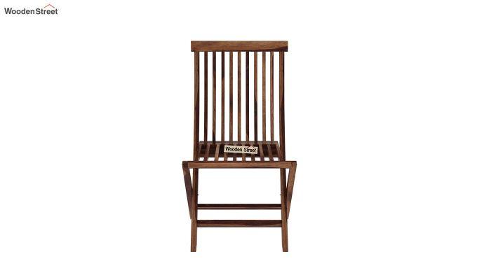 Hanton Folding Chair And Round Table (Teak Finish)-7