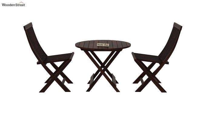 Hanton Folding Chair And Round Table (Walnut Finish)-3