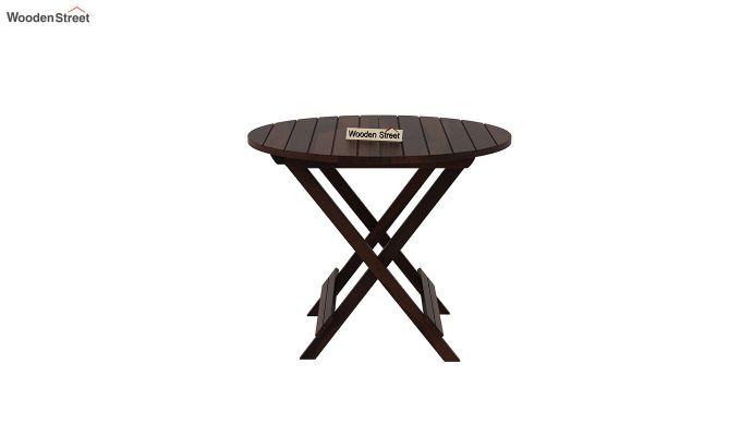 Hanton Folding Chair And Round Table (Walnut Finish)-5