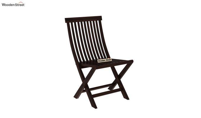 Hanton Folding Chair And Round Table (Walnut Finish)-6