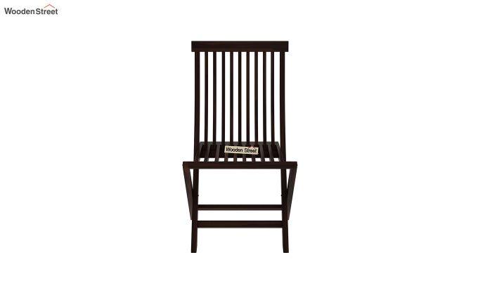 Hanton Folding Chair And Round Table (Walnut Finish)-7