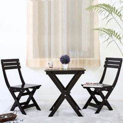 Myrick Balcony Table And Chair Set (Black)