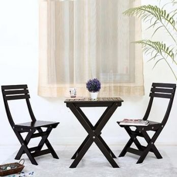 buy low price wooden balcony furniture set online India