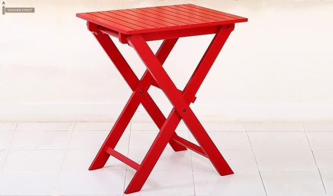 Myrick Balcony Table And Chair Set (Red)-3