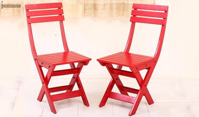Myrick Balcony Table And Chair Set (Red)-10