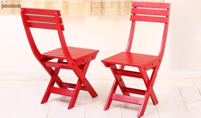 Myrick Balcony Table And Chair Set (Red)-11